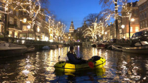 The most beautiful travel photos: Urban Packrafting in Amsterdam, The Netherlands, Europe, from the photo database of Charesse TravelPics for travel inspiration and virtual holidays. www.packrafting.de