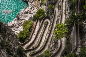 The most beautiful travel photos from Charesse TravelPics: Historical serpentine path, Via Krupp, Capri, Italy, Europe